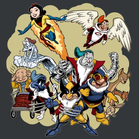Tom Bancroft - X-Dwarves - X-men Snow White & the seven dwarves disney - neatoshop